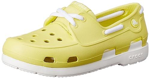 1630b1288 Crocs Kids Beach Line Lace up Boat Shoes