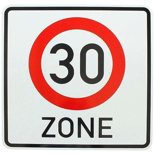 Baustellenschilder zum ausdrucken kostenlos  Amazon.de: ORIGINAL Verkehrszeichen 30 Zone Verkehrsschild für den ...
