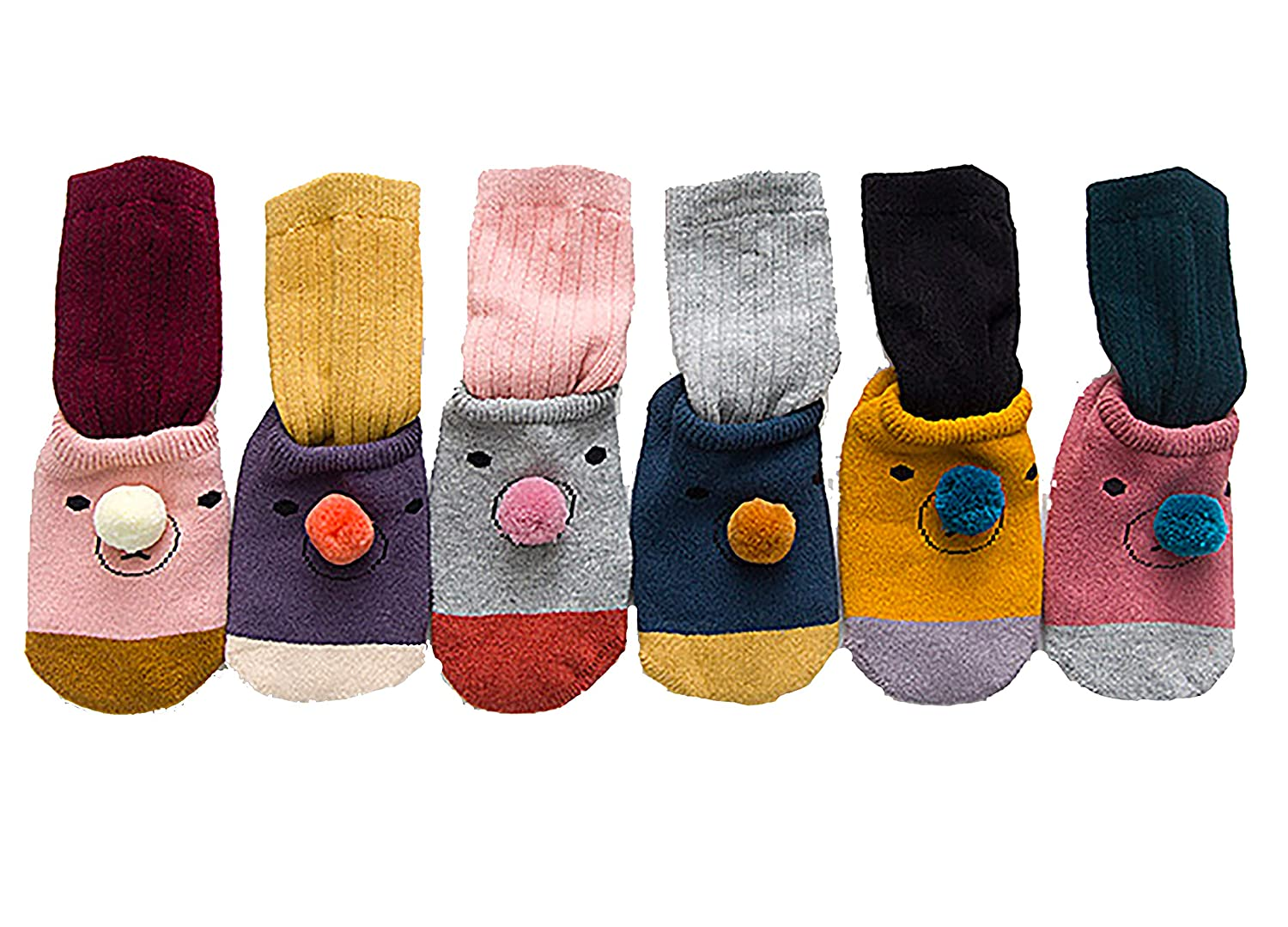 plum 2-1 socks For 1-12 Months Toddler Baby Unisex Baby Socks 3 Pairs Cotton Booties with Non Skid Bottom Soft and Safe Booties