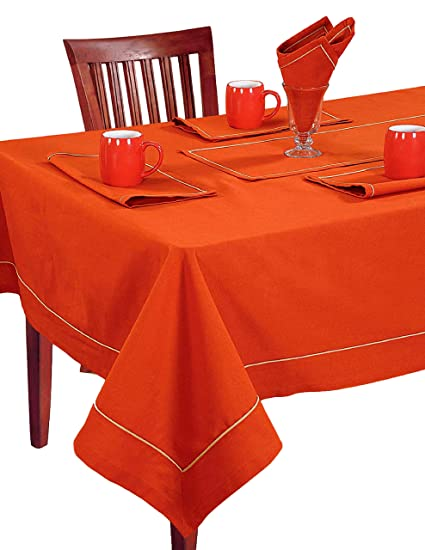 Ordinaire ShalinIndia Square Tablecloth 60 X 60 Inch For 4 Seater Center Or Dining  Table In Indian