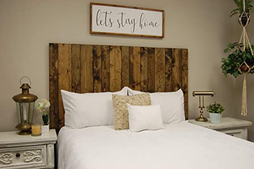 Dark Walnut Headboard Queen Size Stain