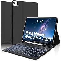 SENGBIRCH Teclado Español para iPad Air 10.9 Pulgadas 2020, Funda con Teclado Bluetooth para iPad Air 4/ iPad Pro 11…