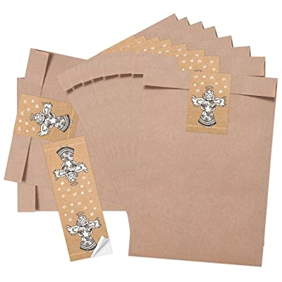 febbaaa80 10 pequeñas bolsas marrones bolsas de papel weihnac htstüten (16,2 x 23 +