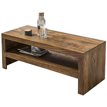 Wohnling Couchtisch Massiv-Holz Sheesham 110 cm breit Wohnzimmer ...