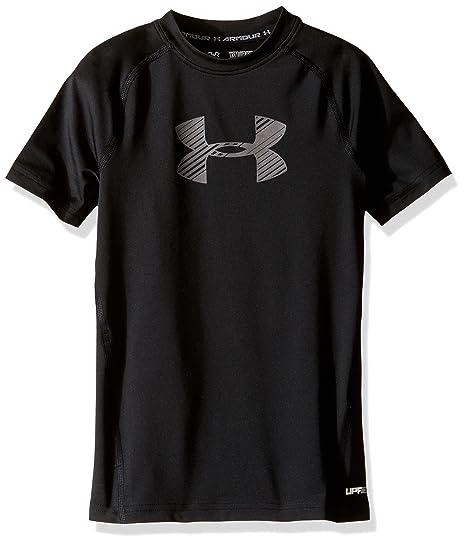 da01c4c724 Under Armour Boys' HeatGear Armour Short Sleeve Fitted Shirt: Amazon ...