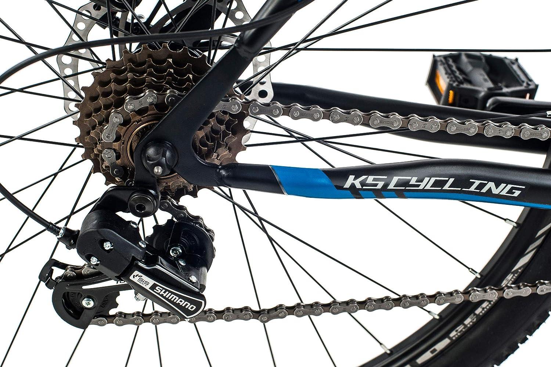 Erwachsene Mountainbike MTB Hardtail 27,5 Sharp schwarz-blau Fahrrad KS Cycling Unisex/ 27,5 Zoll