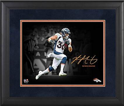 05563b93b Phillip Lindsay Denver Broncos Framed 11 quot  x 14 quot  Spotlight  Photograph - Facsimile Signature -