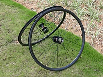Ruedas de carbono Toray Full Carbon 3 K brillante 27.5er 650B llanta de bicicleta de montaña cubierta para rueda de freno de disco bicicleta MTB ruedas: ...