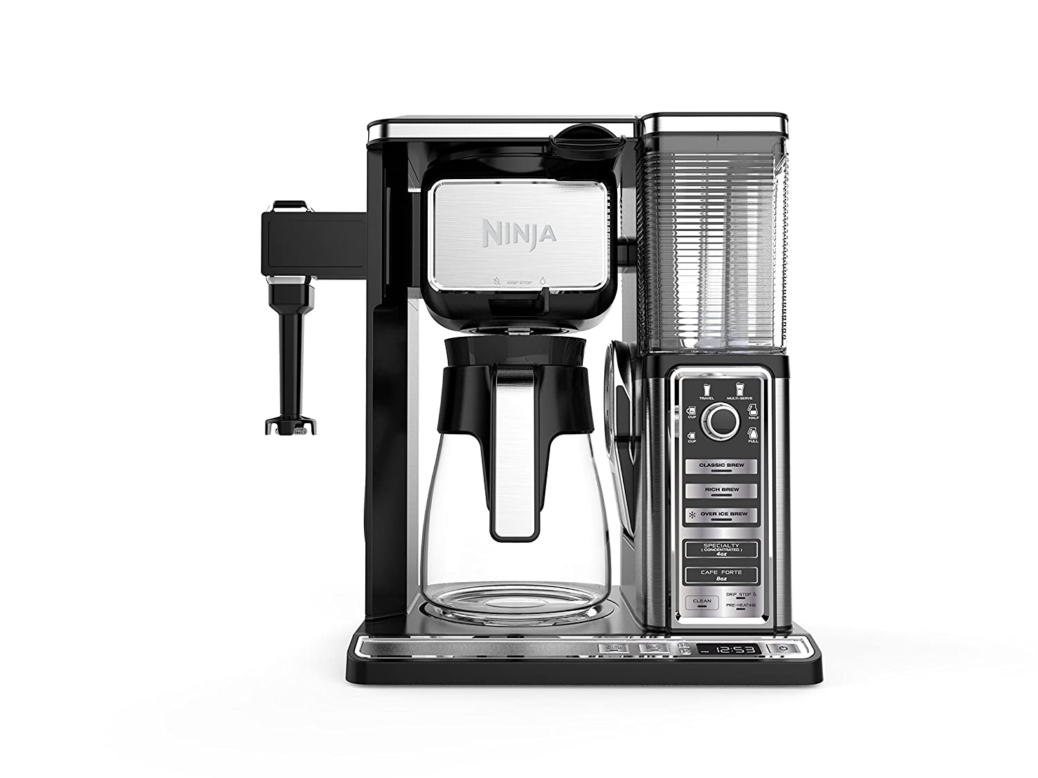 Ninja Coffee Bar Auto-iQ Programmable Coffee Maker with 6 Brew Sizes, 5 Brew Options, Milk Frother, Removable Water Reservoir and Glass Carafe (CF091) SharkNinja
