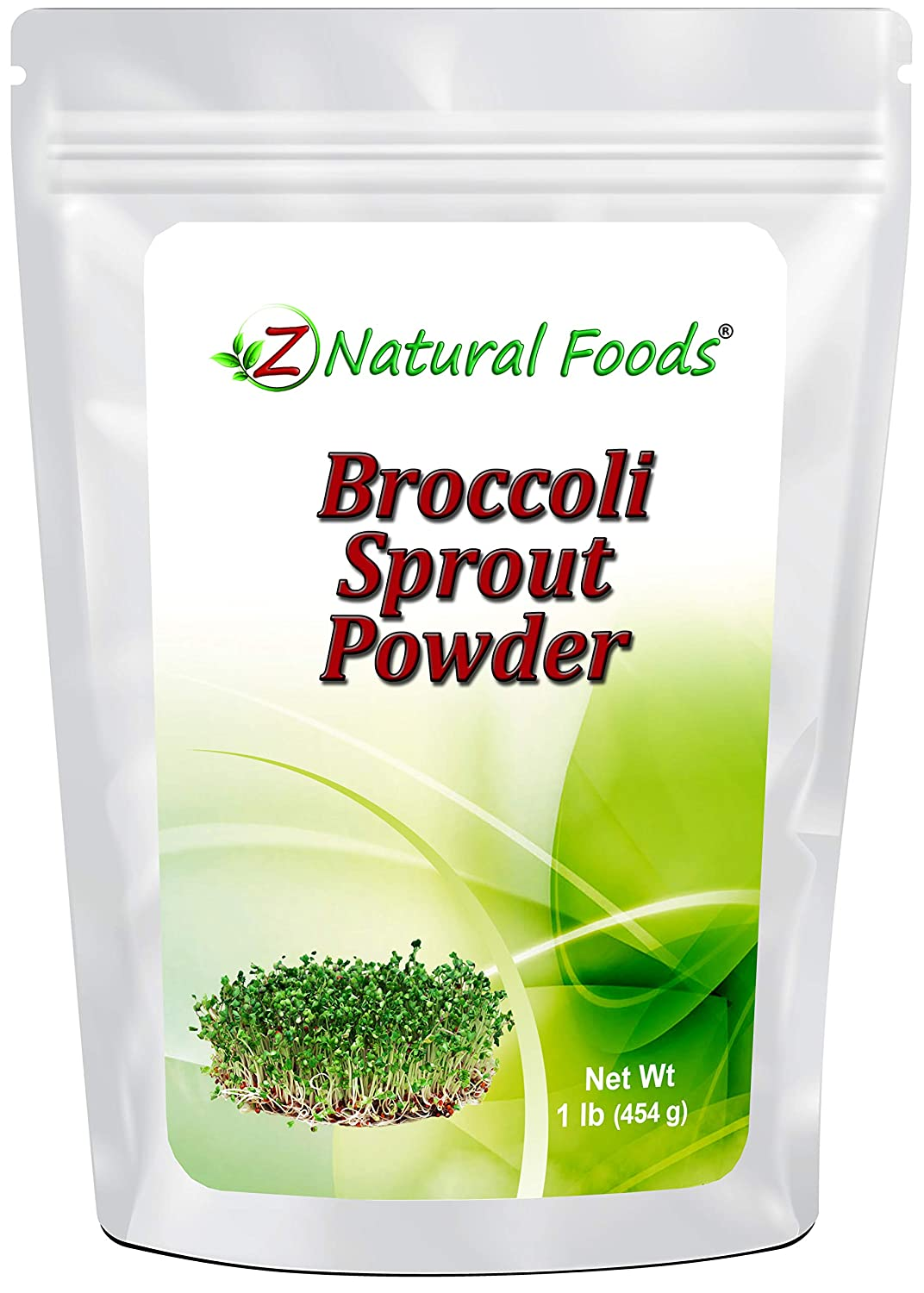 Broccoli Sprout Powder - All Natural Antioxidant, Vitamin & Mineral Superfood Supplement - Mix In Smoothies, Shakes, & Recipes - Raw, Vegan, Gluten Free, Non GMO - Bulk 1 lb Size