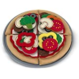 Melissa & Doug Felt Food Mix 'n Match Pizza Play Food Set (40 pcs)
