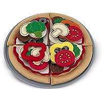 Melissa & Doug Set de alimentos de fieltro para juego de pizza, juego de imitación, fácil de limpiar, incluye ideas de juego, 42 piezas resistentes, 28.575 cm alto x 28.575 cm ancho x 2.794 cm largo