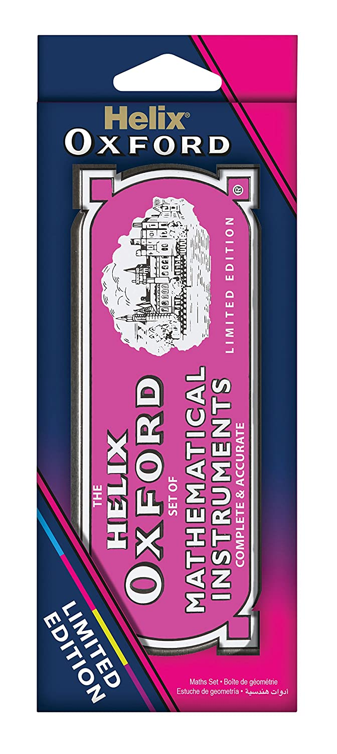 Helix Oxford Colours Maths Set - Pink