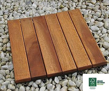 Sam Terrassenfliese Variante 1 Akazienholz 11er Spar Set Für 1m²
