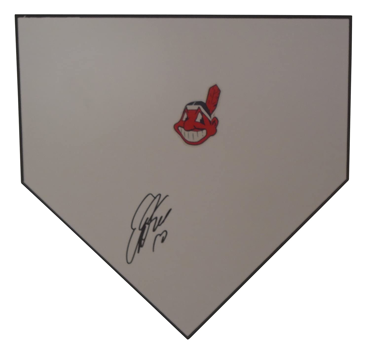 32900c58f Cleveland Indians Edwin Encarnacion Autographed Hand Signed Baseball Home  Plate Base with Proof Photo of Signing and COA at Amazon s Sports  Collectibles ...