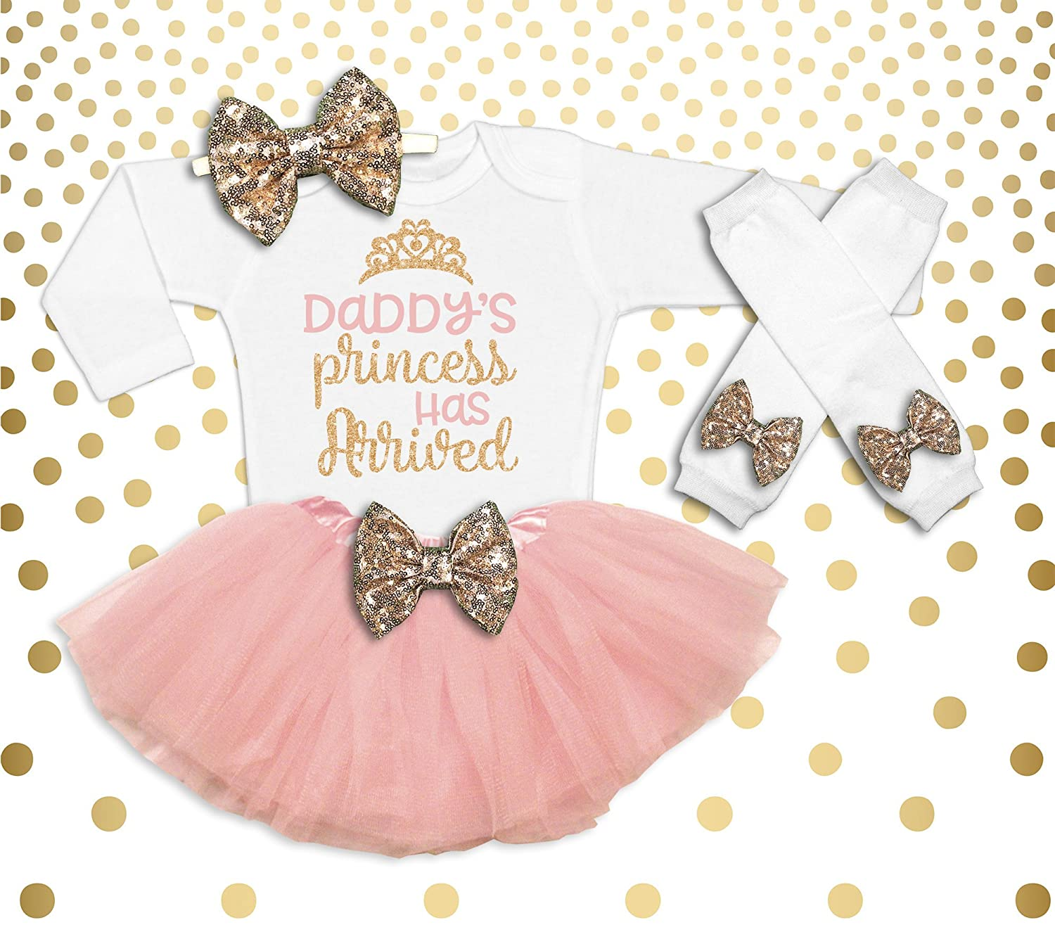 31120aaea Amazon.com  Baby Girl Coming Home Outfit Baby Shower Gift New Baby ...