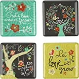 Love Grows Inspirational Fridge Magnet Set (4)