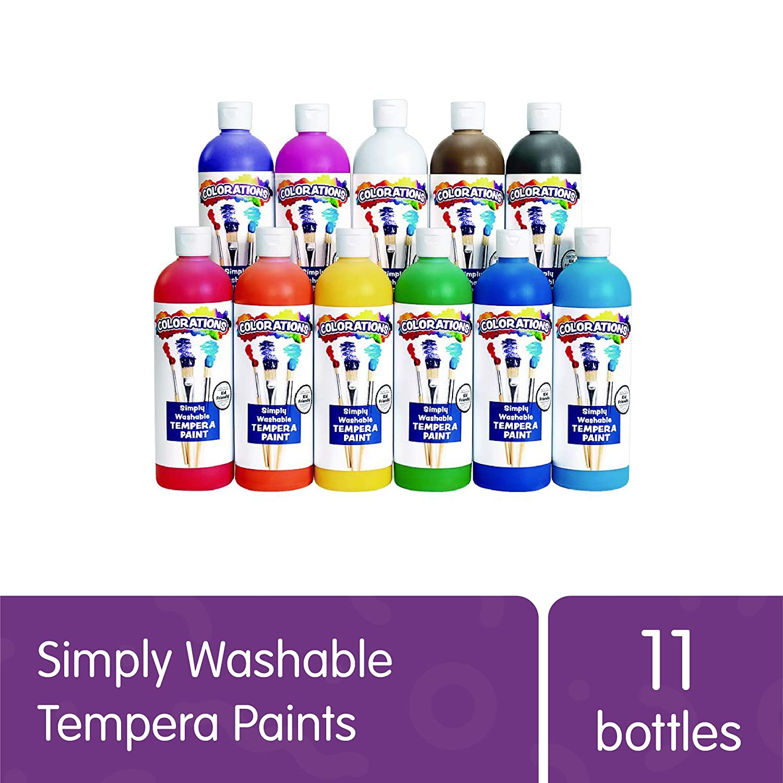 Temperas lavables pintura para niños y manualidades (KJYE)
