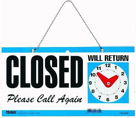 Amazon.com: Titular Sign doble cara abiertos/Will Return ...