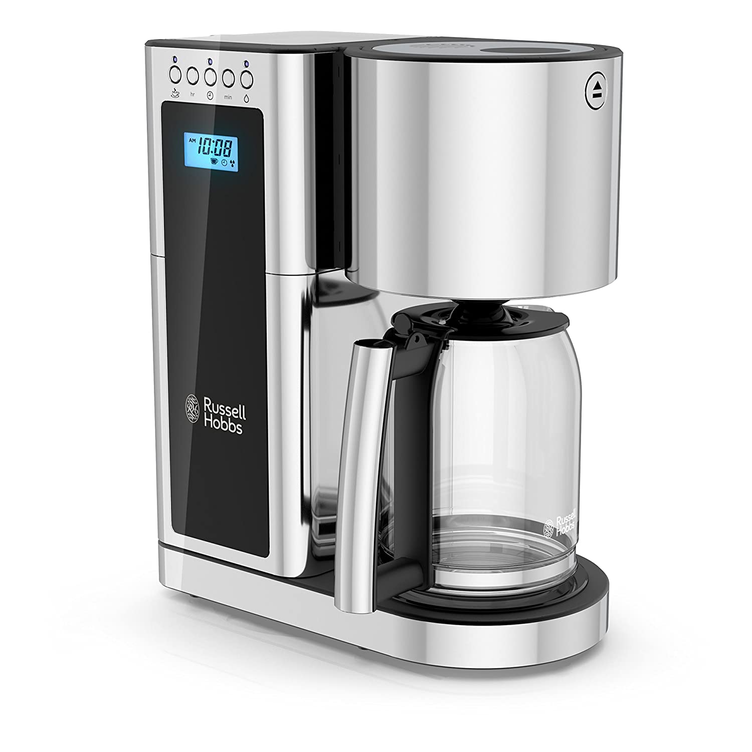 Russell Hobbs Glass Series 8-Cup Coffeemaker, Black & Stainless Steel, CM8100BKR