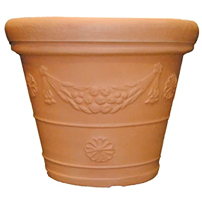 Tusco Products GP31WTC Garland Planter, 31-Inch Diameter, Washed Terra Cotta : Garden & Outdoor