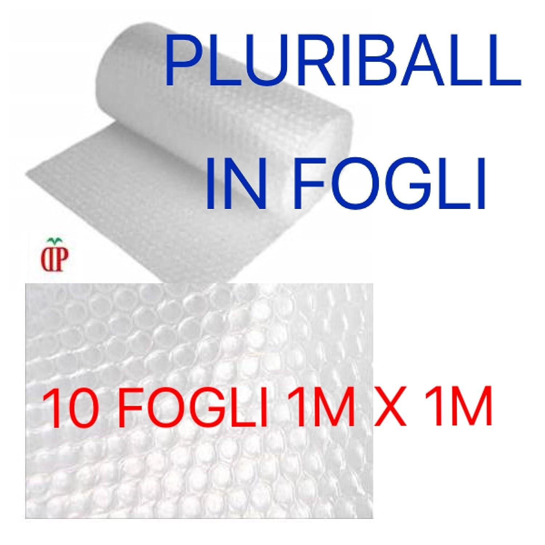 PLURIBALL HQ 115GR PLASTICA PER IMBOTTITURA CON BOLLE ARIA IDEALE PER IMBALLAGGIO e TRASLOCO 10 FOGLI 1 METRO x 1 METRO CV