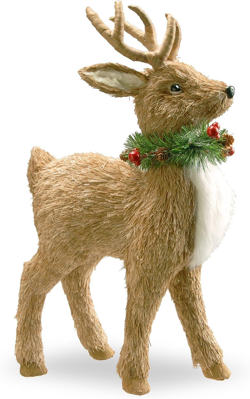 National Tree Standing Deer With Wreath, 19