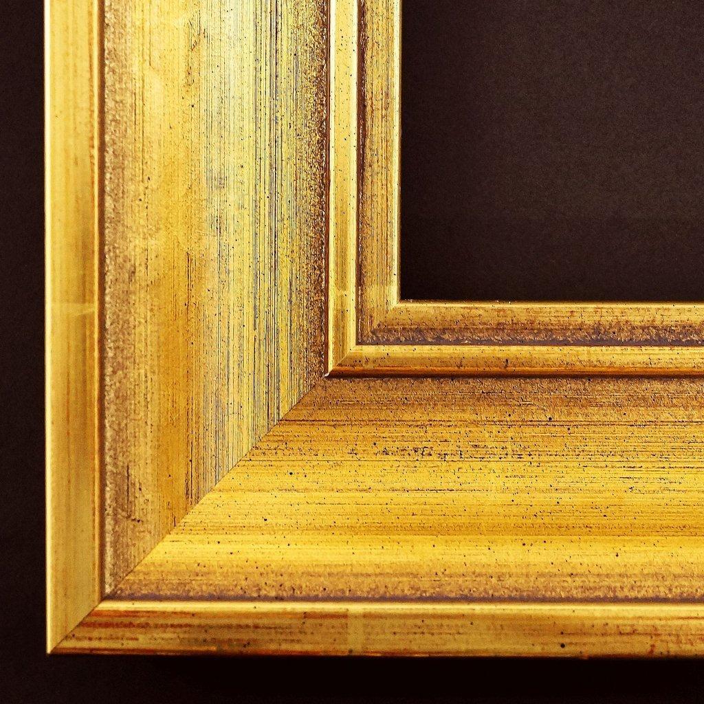 Spiegel Wandspiegel Badspiegel Flurspiegel Garderobenspiegel - Über 200 Größen - Passau Echt - gold antik 6,5 - Außenmaß des Spiegels 100 x 140 - Über 100 Größen zur Auswahl - Wunschmaße auf Anfrage - Antik, Barock