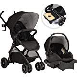 Evenflo Sibby Travel System, Stroller, Car Seat, Ride-Along Board, Oversized Storage Basket, 3-Panel Canopy, Multiple-Positio