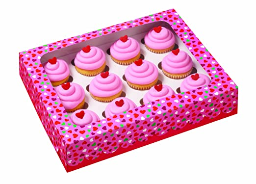 Mini-cupcake Hearts Bakery Box