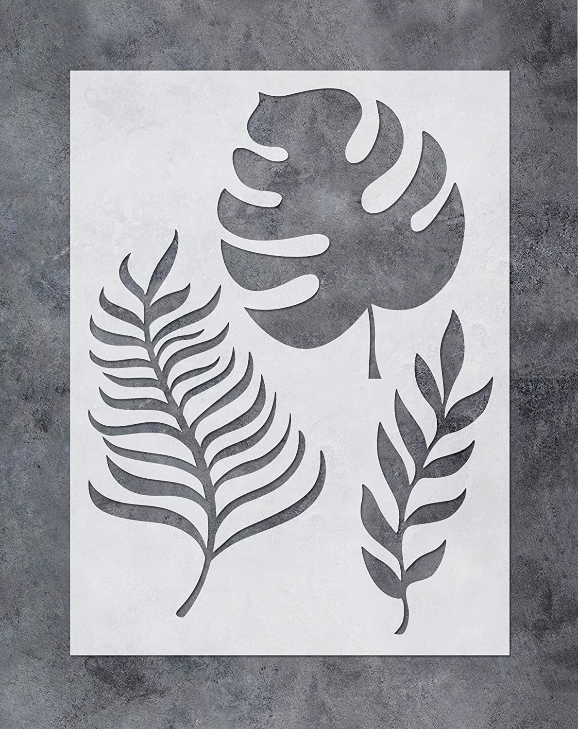 - Reusable Template for Wood Canvas Furniture Wall Home Decor Tropical Banana Leaf Painting Airbrush Stencil 12x16inch SL-054 GSS Designs Palm Frond Wall Art Stencil