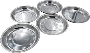 Forest Guys Dog Bowls Cat Bowls (Stainless Steel Bowls, Dish 5-Pack)