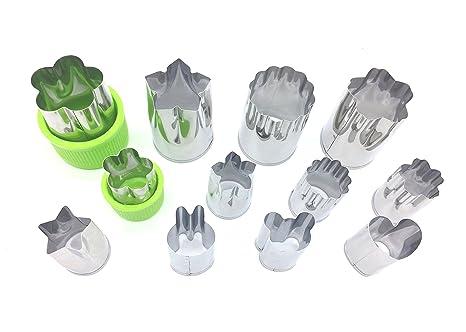 Amazon.com: ionestar Vegetable Fruit Cutters Formas Set ...