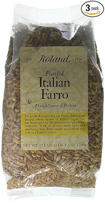 Amazon Roland Italian Farro Pearled 176 Ounce Pack Of 3