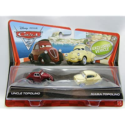 Disney Pixar Cars 2 Die-Cast Uncle Topolino and Mama Topolino 2-Pack 1:55 Scale: Toys & Games