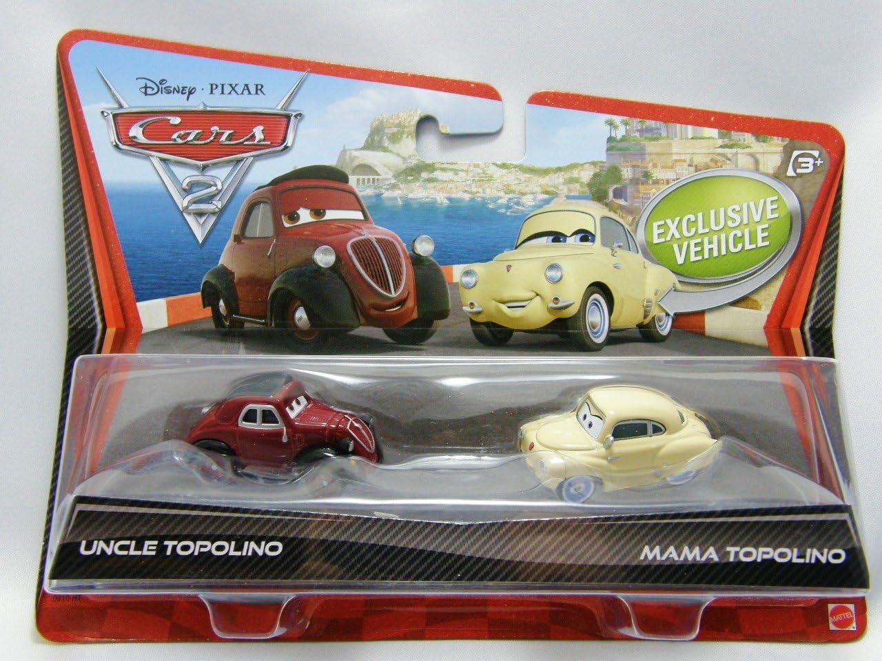Pixar Cars 2 Finn Francesco Uncle Topolino & Mama Topolino Diecast ...