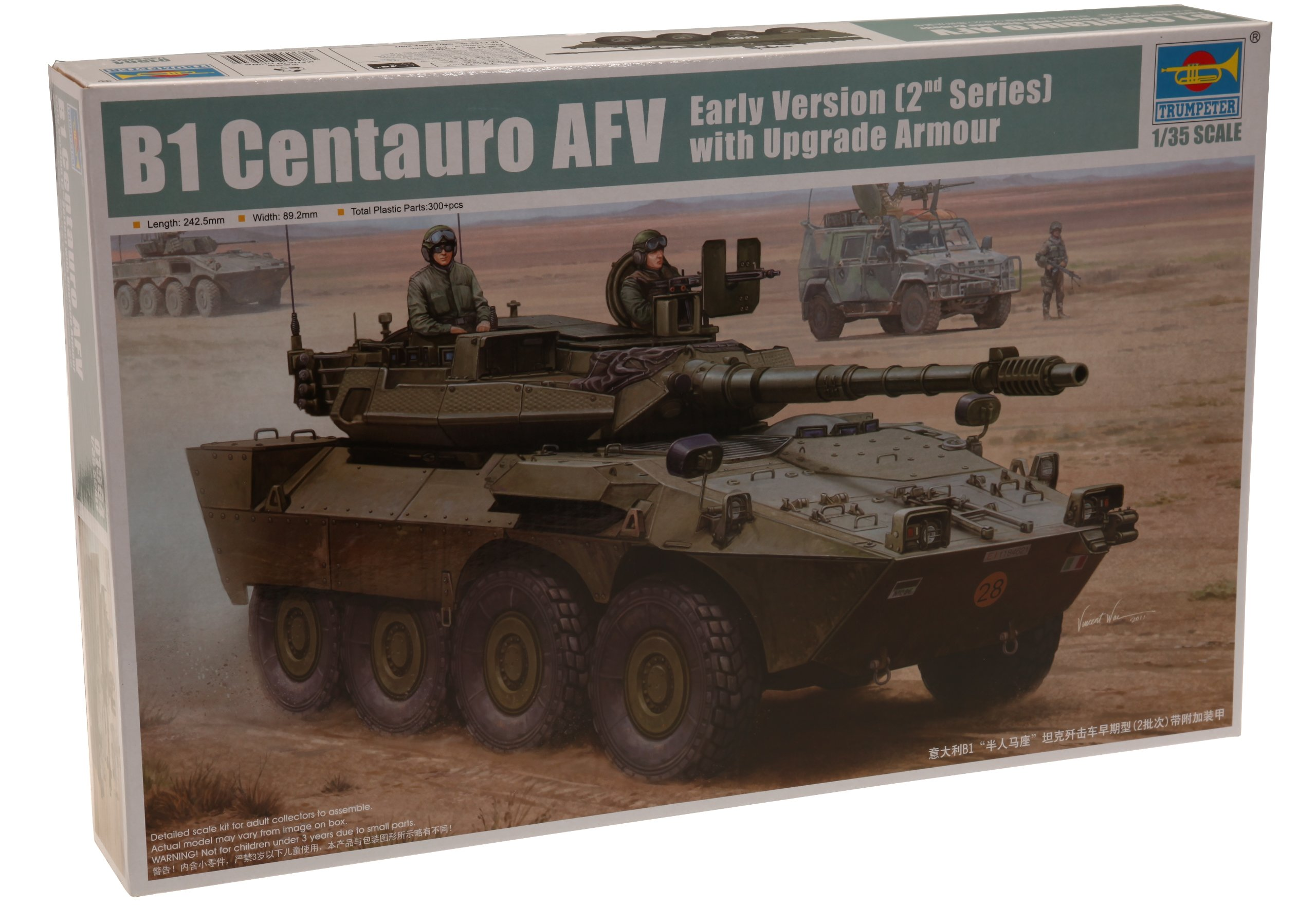 Trumpeter 1/35 Italian B1 Centauro 2nd Series Tank Destroyer Early Version with Upgrade Armor