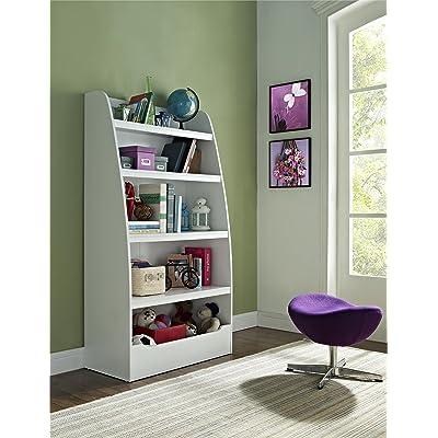 Ameriwood Home Hazel Kids' 4 Shelf Bookcase, White: Kitchen & Dining