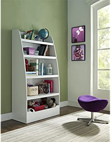 Ameriwood Home Hazel Kidsu0027 4 Shelf Bookcase, White