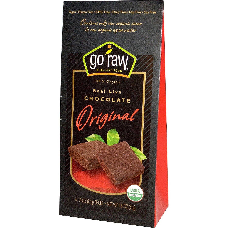 Amazon.com : Go Raw Super Raw Chocolate 6 Pieces, 1.8-Ounce ...