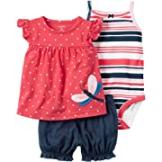 Carter's Baby Girls' 3 Piece Butterfly Set 3 Months