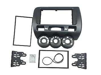 Dkmus 1 DIN o doble DIN carcasa DVD, Radio stereo-kit de montaje con salpicadero para JAZZ castone 2002–2008 2 din