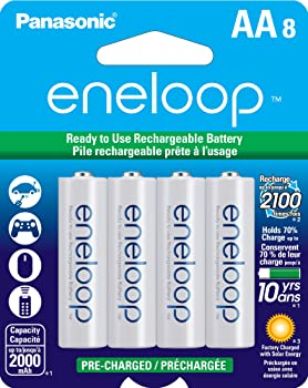 8-Pack Panasonic AA 2000mAh Rechargeable Batteries