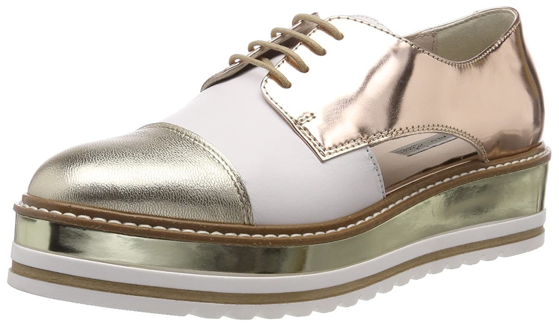 Tosca BLU Country, Zapatos de Cordones Derby para Mujer 40 EU|Dorado (Platino 05p)