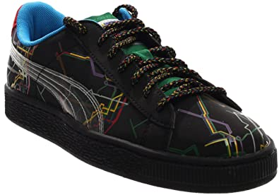Puma Basket X Dee Ricky Mens Black Suede Lace Up Lace Up Sneakers Shoes 10 7152dd710