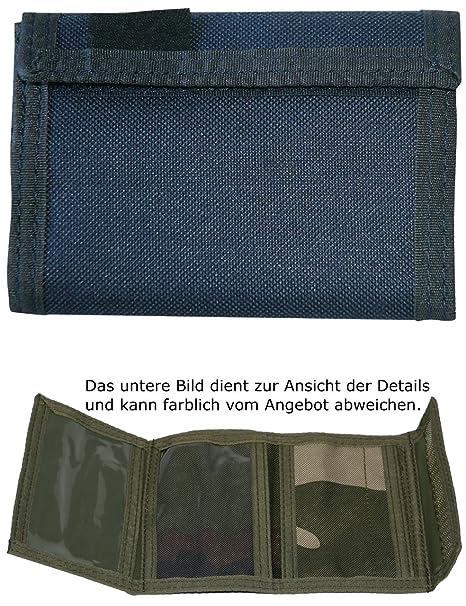 Monedero Billetera Cartera Velcro De Nylon Ejército Azul ...
