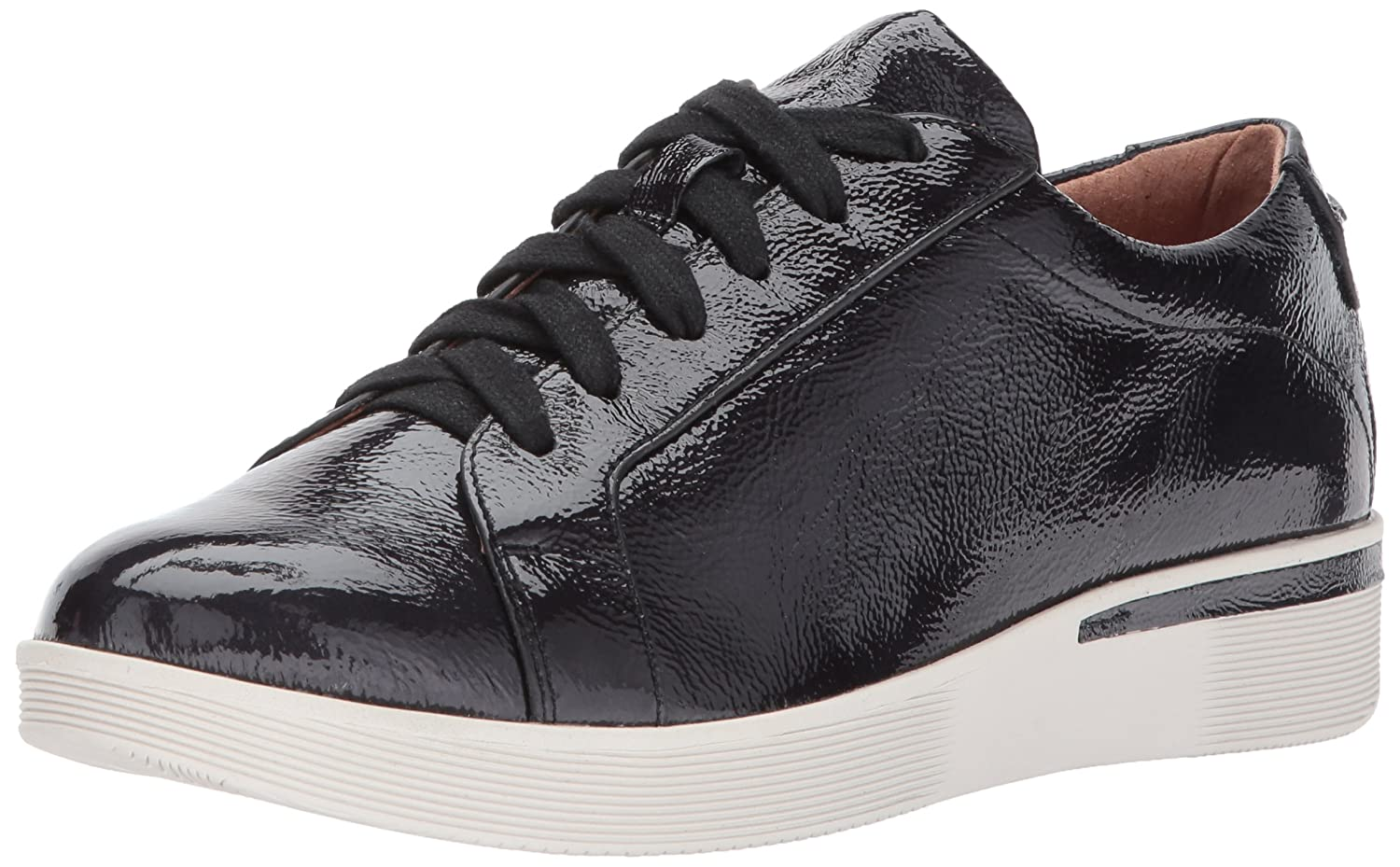 Gentle Souls by Kenneth Cole Women's Haddie Low Profile Fashion Sneaker Embossed Fashion Sneaker B071VCNJRY 8 M US|Black Patent