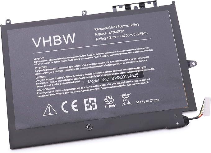 vhbw Litio polímero batería 6700mAh (3.7V) para Ordenador ...