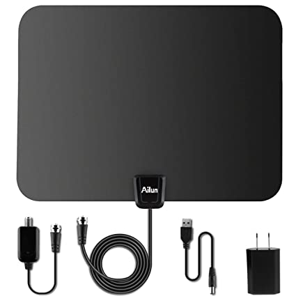 TV Antenna,by Ailun,Ultra Thin Indoor HDTV Antenna for High Reception,50