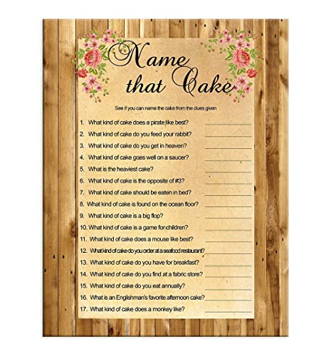 bridal shower game name that cake wedding shower game couples